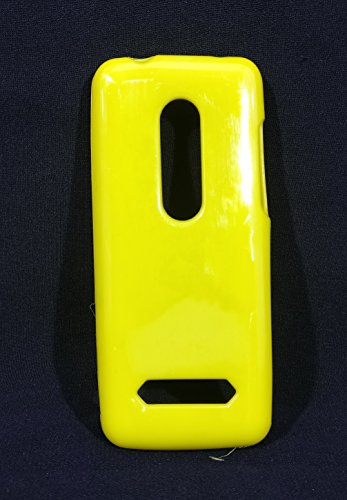 iCandy™ Colorfull Thin Soft TPU Back Cover For Nokia Asha 206 - Yellow  available at amazon for Rs.109