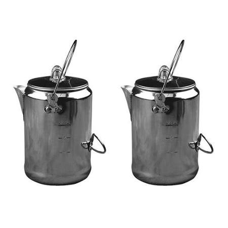 (2) COLEMAN Camping 9-Cup Rust Resistant Aluminum Coffee Pot Maker Percolators