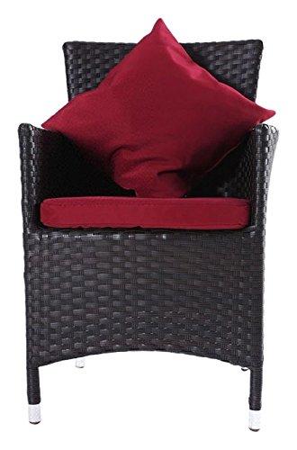 Outflexx Möbel 2-er Set Polyrattan Dinner Stuhl w3 , braun günstig bestellen