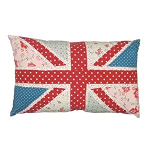 Patchwork Pink Union Jack Cushion