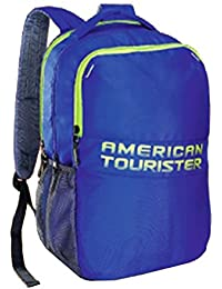 American Tourister 26 Lts Hoodie Blue Casual Backpack (550(0)01001)