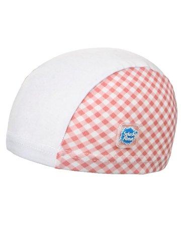 Splash About Baby Swim Hat (Pink Gingham, 18 Months+) front-267389