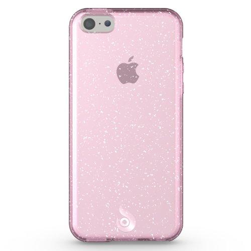 Diztronic Pink GlitterFlex TPU Case for Apple iPhone 5C - Retail Packaging