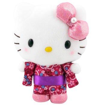 Hello Kitty Kimono Plush: Pink Bow