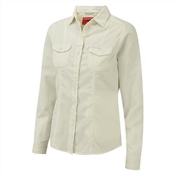 Craghoppers Nosilife Dala Long Sleeve Shirt - Mushroom - 8