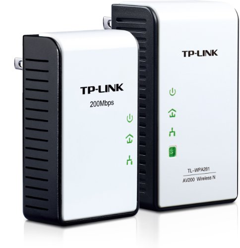 TP-Link 300Mbps AV200 Wireless N Powerline Extender Starter Kit (TL-WPA281KIT)