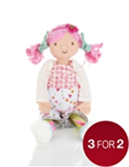 Emily Button™ Medium Rag Doll Soft Toy