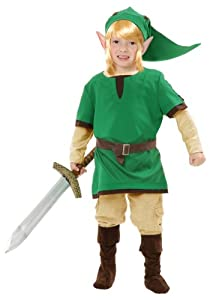 Kids Elf Warrior Costume - Legend of Zelda Link Costume (Large (10-12))