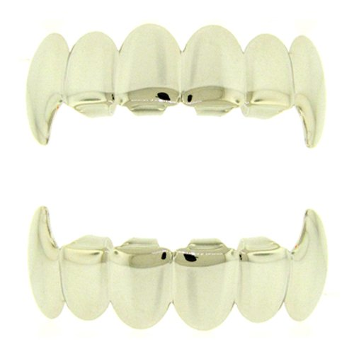 Silver Grillz Top And Bottom Grillz Top Bottom Set