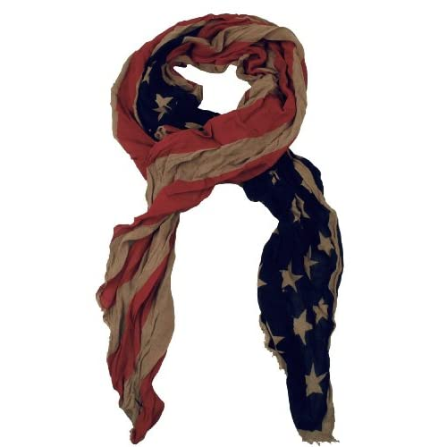 Capelli New York Unisex Crinkle Halstuch American Flag, Made In