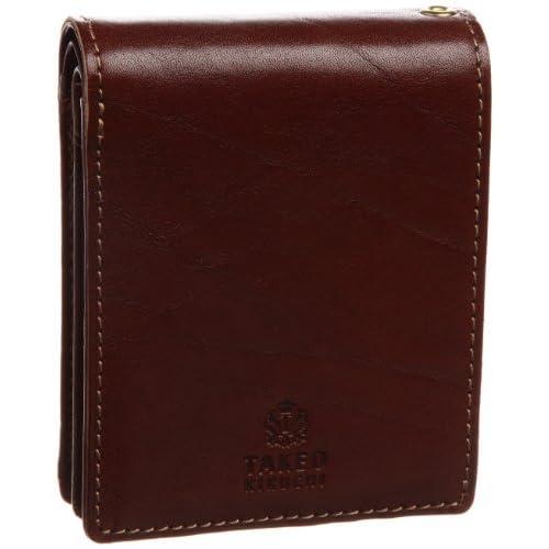 [タケオキクチ] TAKEO KIKUCHI エリア 二つ折財布 中ベラ付き 266616 CHO (チョコ)