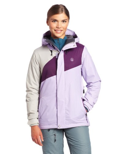 Volcom Juniors Slogan Insulated Snow Jacket, Lavendar, Large