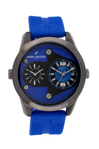 Daniel Hechter-DHH/012 3GG Men's Watch Analogue Quartz Strap Blue Dial Silicone Blue