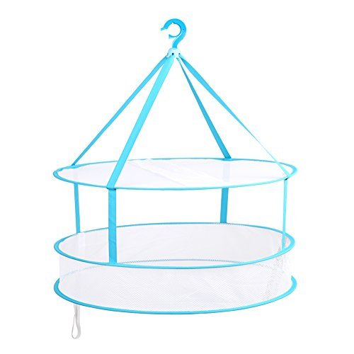 Portable Folding Drying Rack Hanging Clothes Laundry Hangers Dryer Net For Underwears Women Lingerie Woollen Sweater Baby Garments (Industrial Centrifuge compare prices)