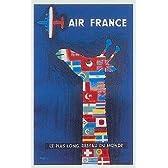 ポスター サヴィニャック Raymond Savignac AIR FRANCE 飛行機 エールフランス