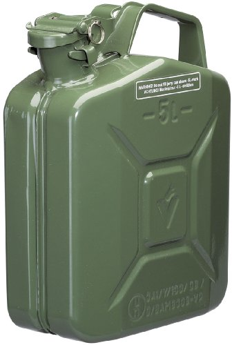 49957 Benzinkanister aus Stahl, 5l, grün