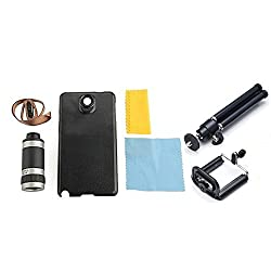 SAMSUNG NOTE 4 TELESCOPE 8X LENS WITH BACK CASE/COVER + MOBILE TRIPOD