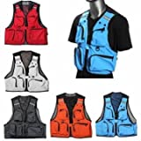 1 Pc- Multi Pockets Fishing Hunting Mesh Vest Mens Outdoor Leisure Jacket (Color :Random- XL)