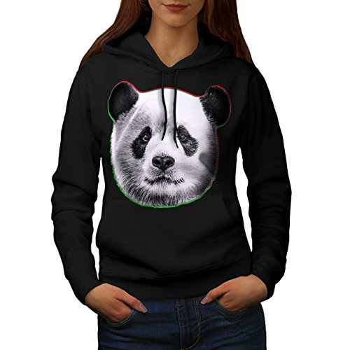 cracked-wood-panda-timber-style-women-new-black-xl-hoodie-wellcoda
