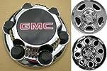 16 17 Inch OEM GMC 6 Lug Chrome Plated Center Cap Hubcap Wheel Rim Cover 1999-2013 1500 Pickup Truck VAN SUV Sierra Savana Yukon 5129 5223 7.25″