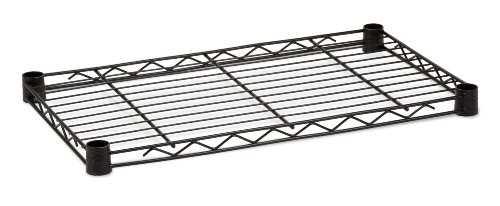 Honey-Can-Do SHF250B1636 Steel Shelf for Urban Shelving Units, 250lbs Capacity, Black, 16L x36W