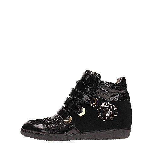 Roberto Cavalli CB40880 Sneakers Donna Crosta Nero Nero 38
