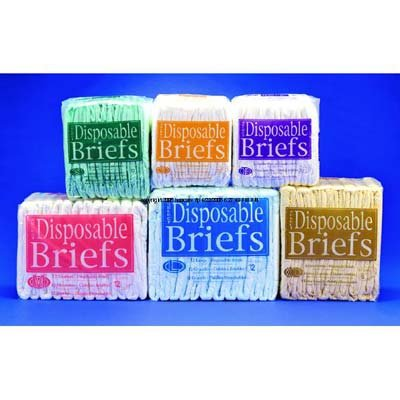 "Units Per Pack 8 Select Disposable Briefs Capacity 23 Fl Oz Waist 59 - 64"" Xlarge Beige Principle Business Ent 2635"