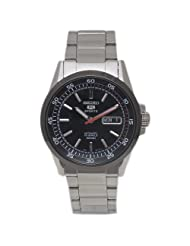 Seiko Men's SNZH19 Stainless Steel Analog with Black Dial Watch