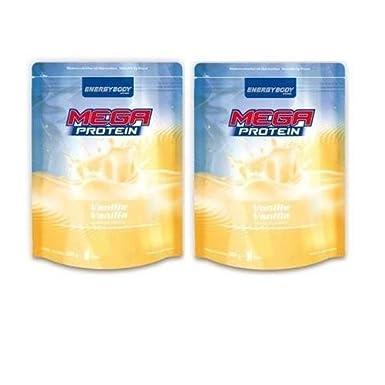 Energybody Mega Protein 80 2 x 500g Beutel 2er Pack Vanille