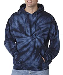 Colortone Adult Tie-Dyed Spider Hoodie - Navy - 3XL