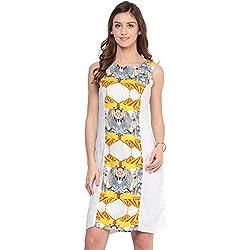 Akkriti by Pantaloons Women A-Line Dress (205000005575247_ White_ Medium)