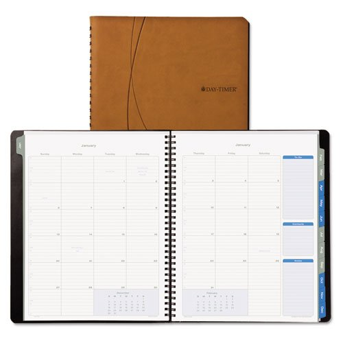 Day-Timer - Essentials Monthly Planner, 8-1/2 X 11, Brown, 2015 45222-1501 (Dmi Ea