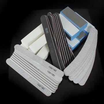 40-PCS-Nail-Art-Sanding-Block-Manicure-Tools-UV-Gel-Set