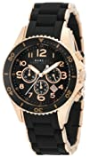 Marc Jacobs Pelly Chronograph Black Dial Rose Gold-tone