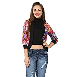 Tong Multicolor Jacket Satin & rib for Women