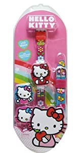 Sanrio Hello Kitty Watch - Kitty Watch w/ Interchangeable Bands and Tps