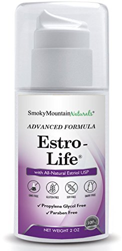 (Paraben-Free) Natural Estro-life Cream / Extra Strength- 100 Mg of USP Bio-Identical Estriol. Used During All Stages of Menopause. Commonly used for Hot Flashes, Mood Swings, Vaginal Dryness, Insomnia, Wrinkles, Low Libido, Hormonal Acne, Energy, irritability, and PCOS. Non-GMO, Propylene Glycol-Free, Fragrance-Free, Soy-Free, and Bioidentical / Micronized Estriol USP. Two times the Estriol at half the price than any competitor. Money Back Guarantee!