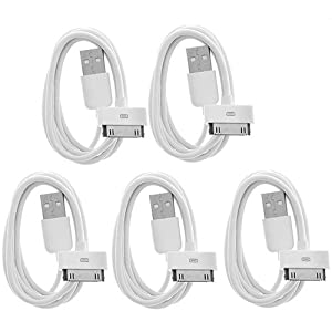 5 X Usb Sync Data Charging Charger Cable Cord For Apple Iphone 4 4s 4g 4th Gen