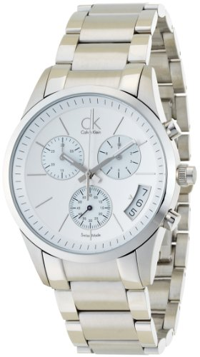 Calvin Klein Quartz, Stainless Steel Bracelet with Silvertone Dial - Men's Watch K2247120