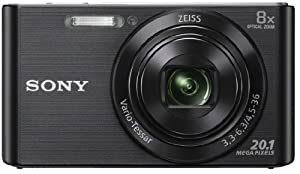 Sony DSCW830 Digital Compact Camera - Black (20.1MP, 8x Optical Zoom) 2.7 inch LCD
