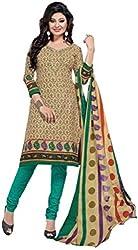 Balaji Womens Cotton Unstitched Dress Material(5119+Green+Free Size)