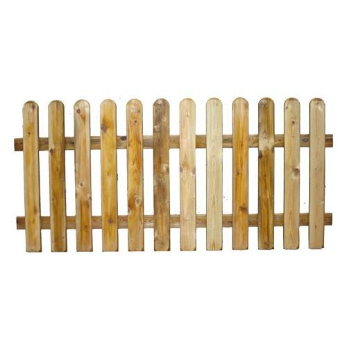 Staccionata in legno impregnato in autoclave 180x100h cm - Ringhiera in legno per giardino ...