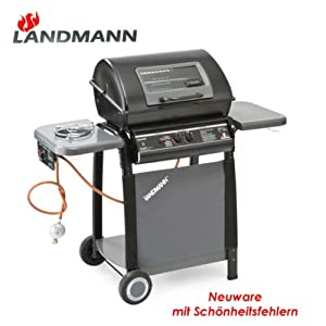 landmann gasgrill 12399 mit seitenbrenner neu 2 wahl grill gas grillwagen lavasteingrill amazon. Black Bedroom Furniture Sets. Home Design Ideas