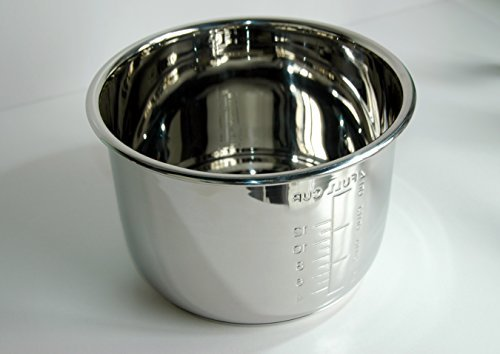 German Pool® IP6 Stainless Steel Inner Pot for 6L Multi-cooker, Pressure cooker, Rice Cooker (URC-16) (Inner Pot compare prices)