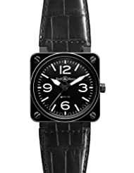 Bestseller NEW BELL & ROSS BR 01-92 AUTOMATIC WATCH BR01-92-BLACK-CERAMIC-C
