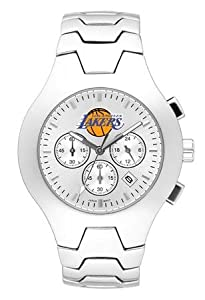 Los Angeles Lakers Mens NBA Hall of Fame Chronograph Watch (Bracelet) by Logo Art