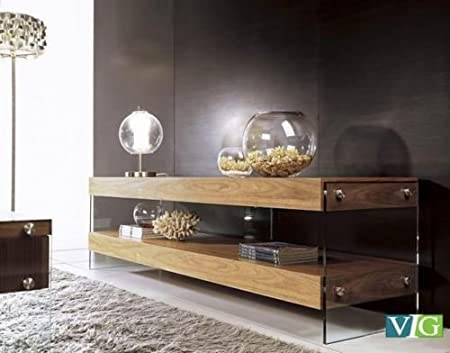 VIG Furniture Contemporary Walnut TV unit