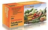 1 X Disposable Food Handling Poly Gloves, Medium (500 Pcs)