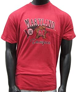 Buy Maryland Terrapins Red Vintage Style T-shirt by NCAA