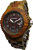 Tense Sports Wood Watch Mens Two Tone Sandalwood Green G4100GS